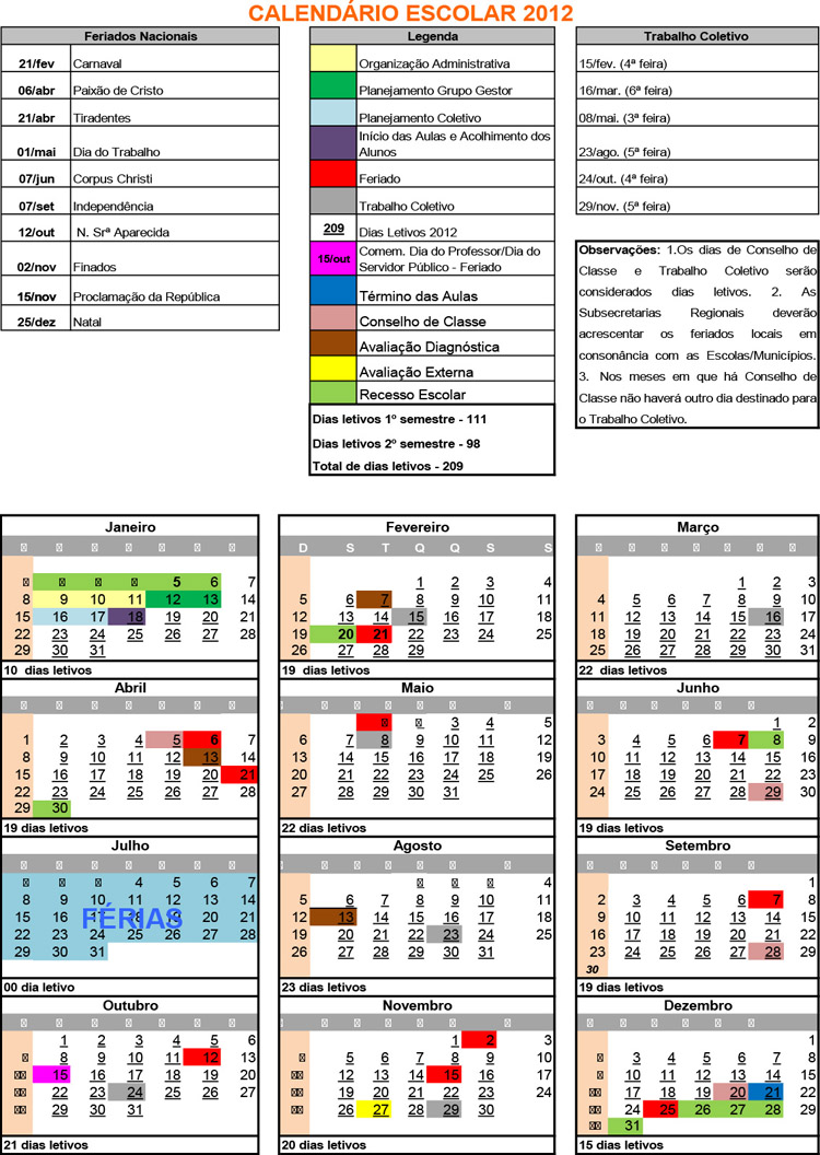 Calendário 2012 - PDF